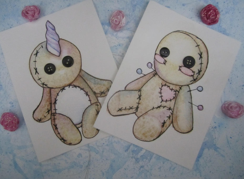 Kawaii Voodoo Cards by Bunneahmunkeah