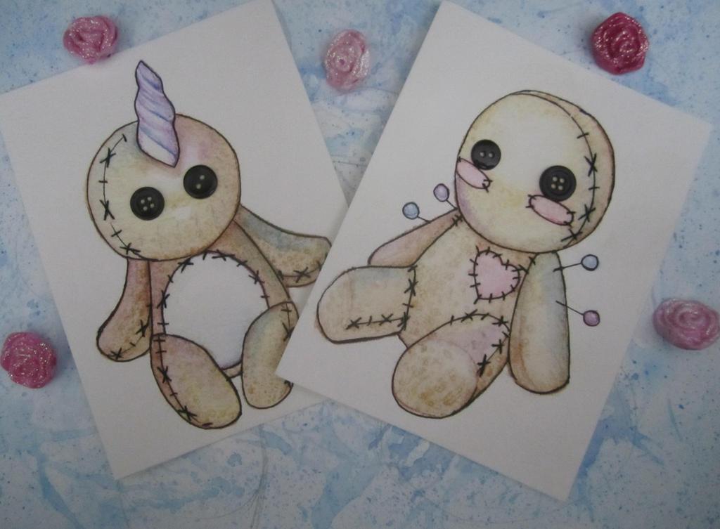 Kawaii Voodoo Cards by Bunneahmunkeah