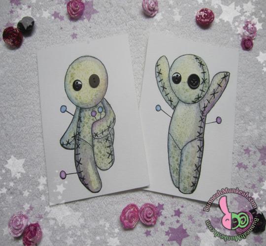 Voodoo Cutie Cards by Bunneahmunkeah