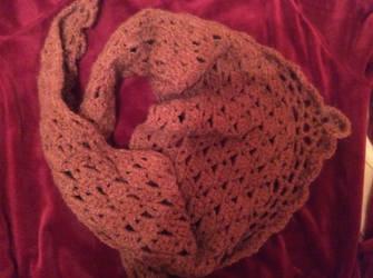 Brown scarf by Mamazoya