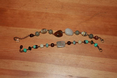 Tvo brown bracelets by Mamazoya