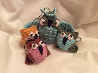 Owl family by Mamazoya