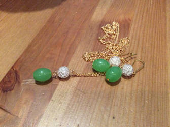 Green and rose set by Mamazoya