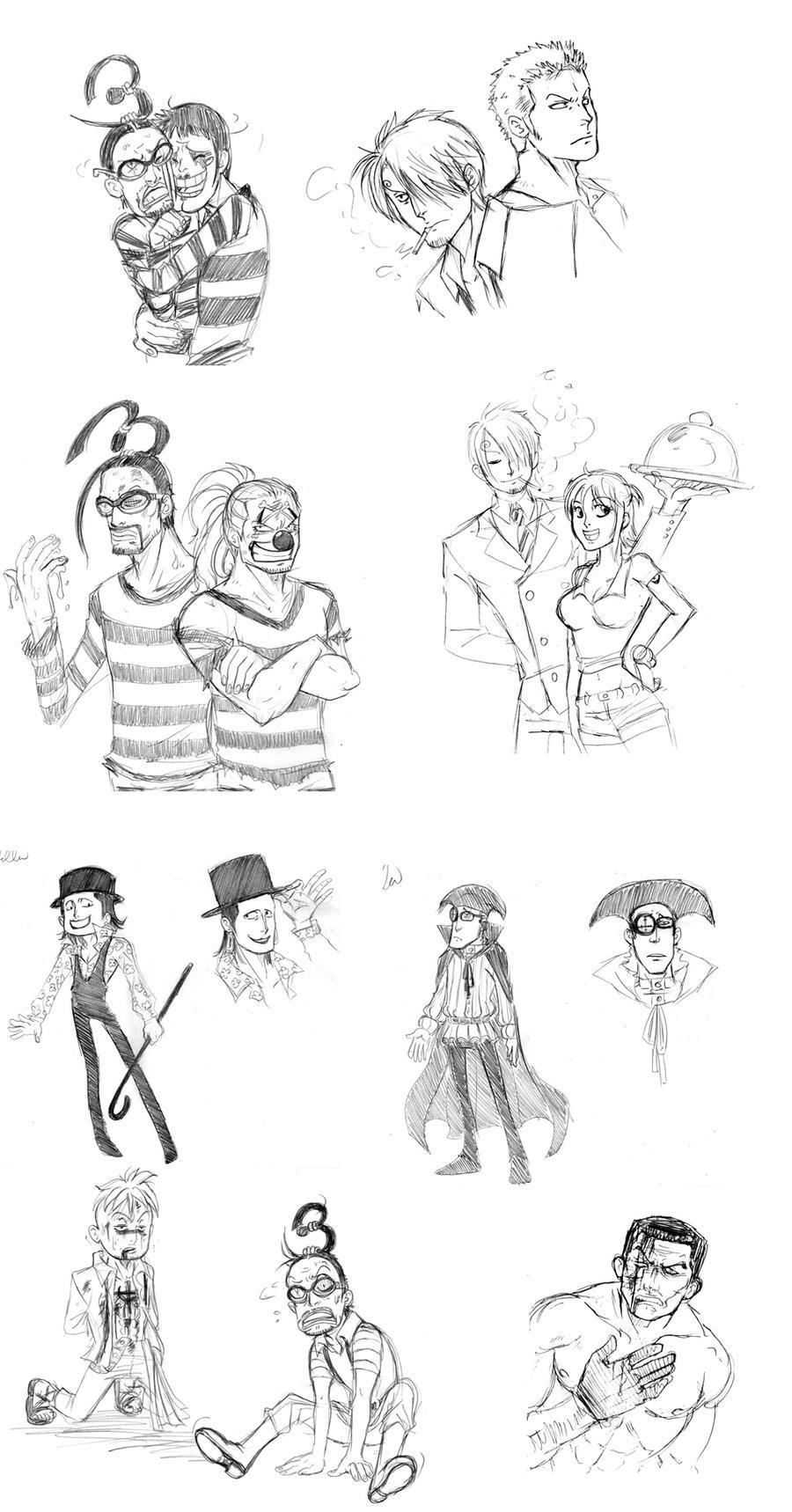 One Piece Sketch Dump 2 by MoonNeko