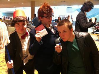 The 3 Doctors by MoonNeko