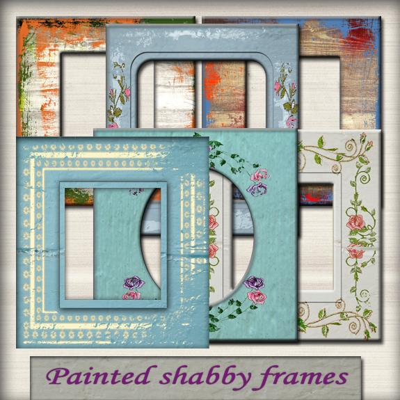 Painted shabby chic frames by Rodikka on DeviantArt