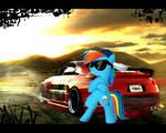 Rainbow Dash Style Car