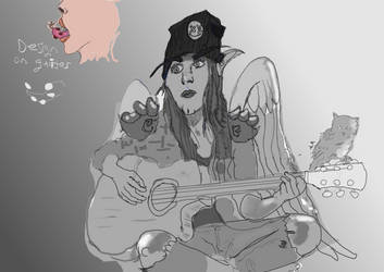 Punk Rock Angel wip 2 by BrainNectar