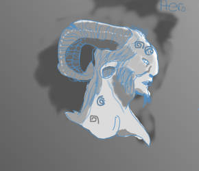 Greek Mythos Pan | Shading exercise by BrainNectar