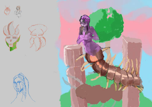 Centipede Gorgon painting