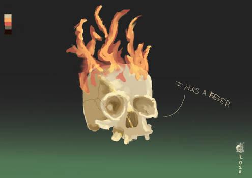 Flaming skull Test