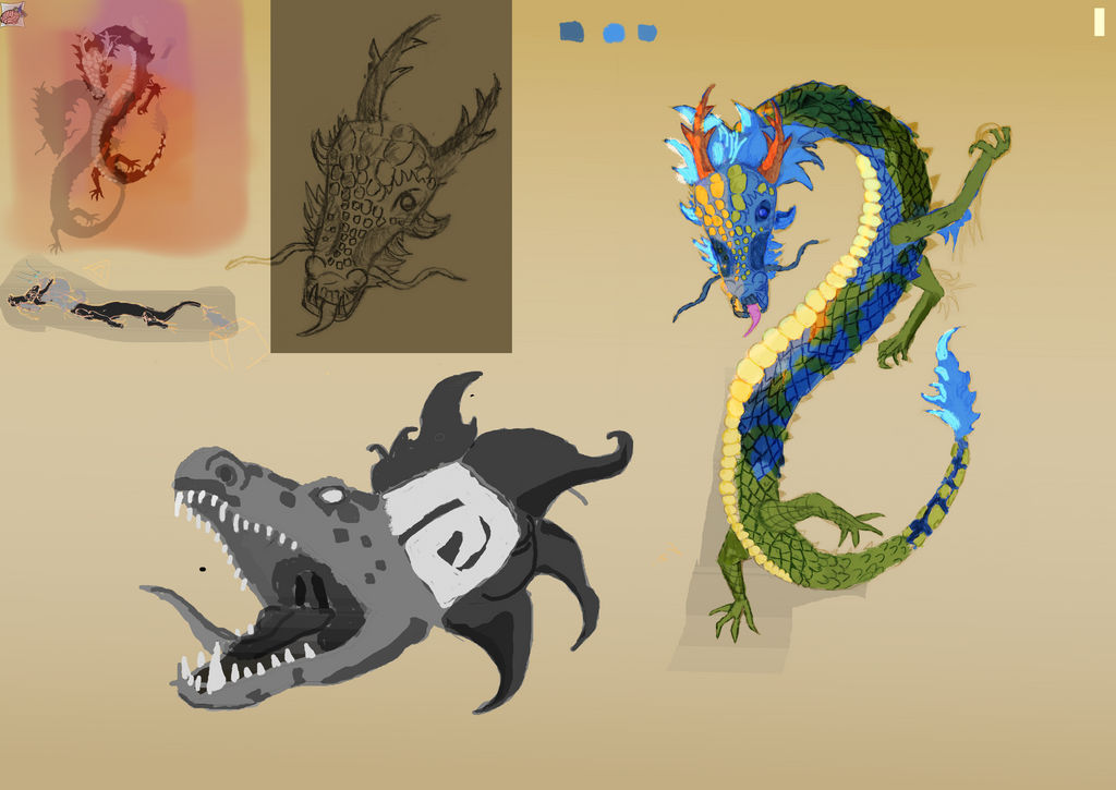 Finished Creature Design board Lung