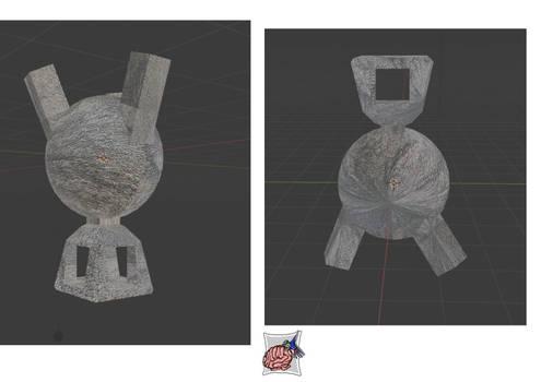 Incense burner + Normal Mapped wip
