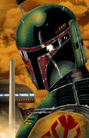 Boba Fett Colored by CliffEngland