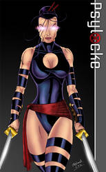 Psylocke Colored by CliffEngland