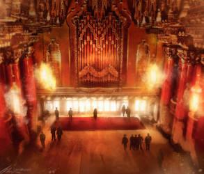 Assassin's Creed Detroit: Fox Theater Lobby by zandraart