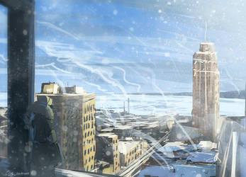 Assassin's Creed Detroit: Guardian Building by zandraart