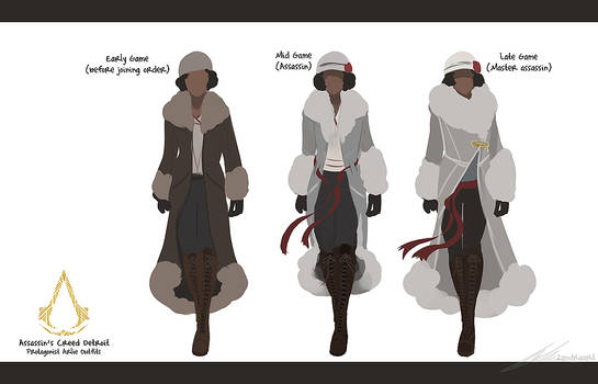 Assassin's Creed Detroit: Arlie's Outfits