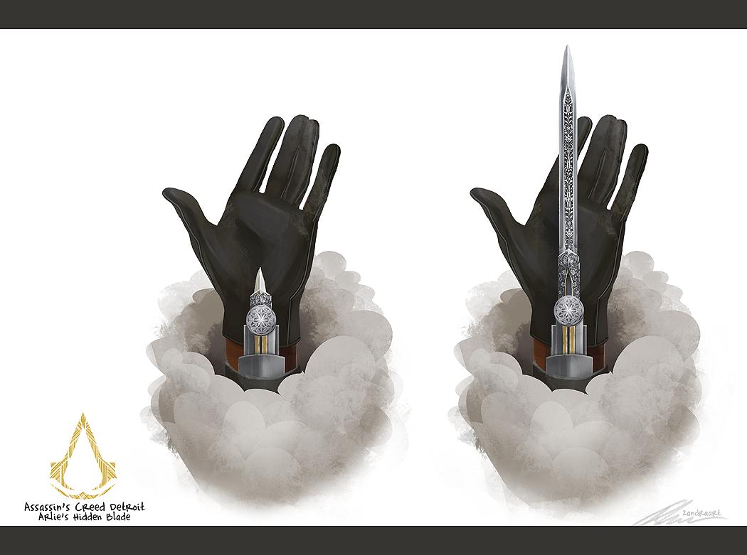 Assassin S Creed Detroit Hidden Blade By Zandraart On Deviantart