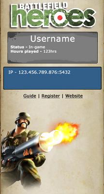 Battlefield Heroes Infoview