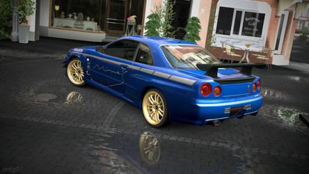 BNR34 SKYLINE GT-R -2- on GT5