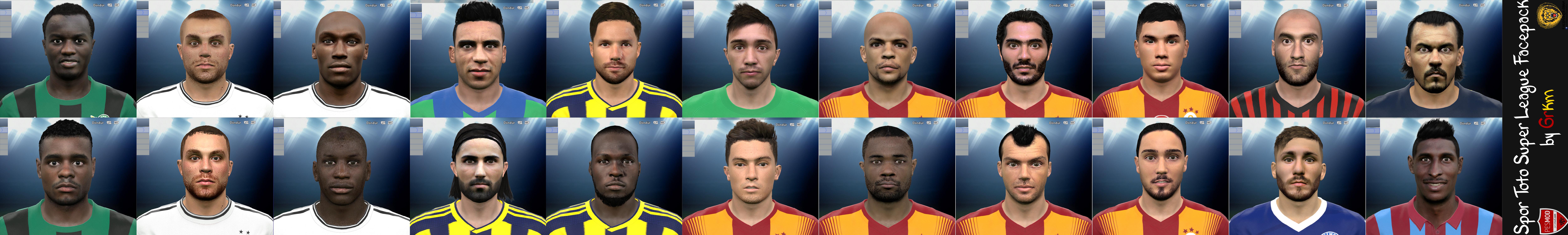 PES 2015 Spor Toto Süper Lig Facepack by Grkm