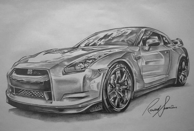 Line Drawing Nissan Gtr : Nissan skyline gtr by ink line on deviantart