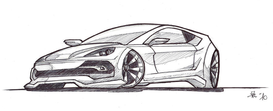 Concept Car Sketch By DavideKent