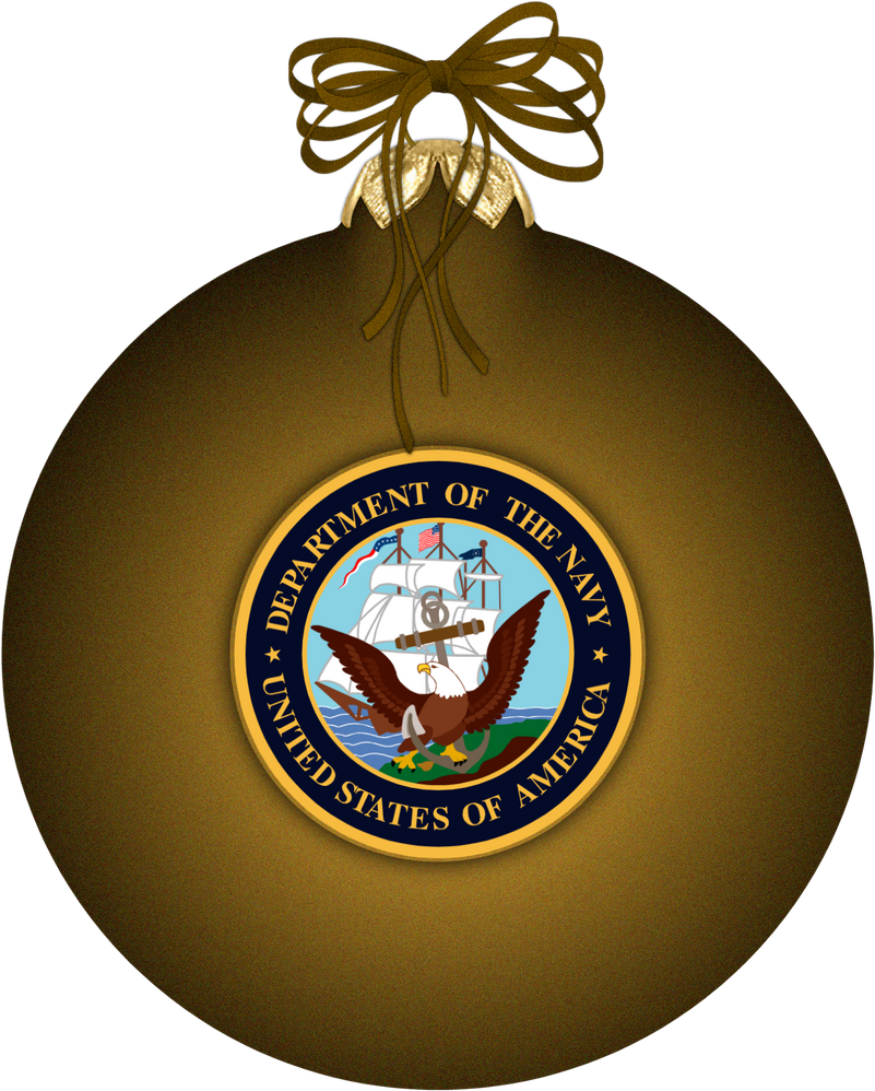 navy christmas ornament by witcheewoman