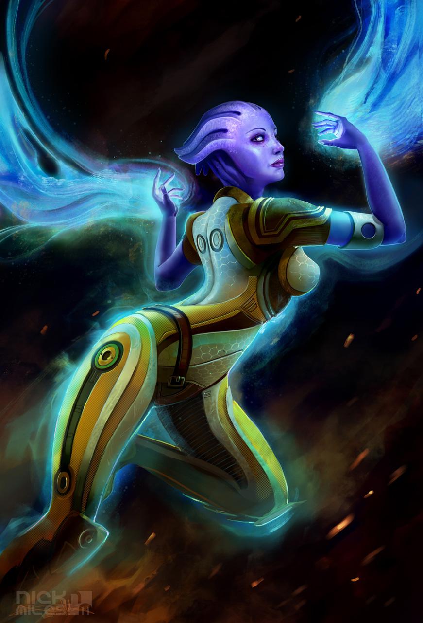 liara by exullium d2yq773 Mass Effect 2.