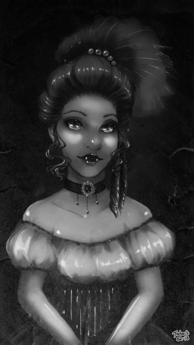 Vampire Sketch BW by Jiubeck