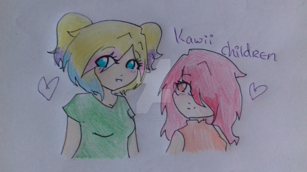 For my kawii children by Poppet-Seed