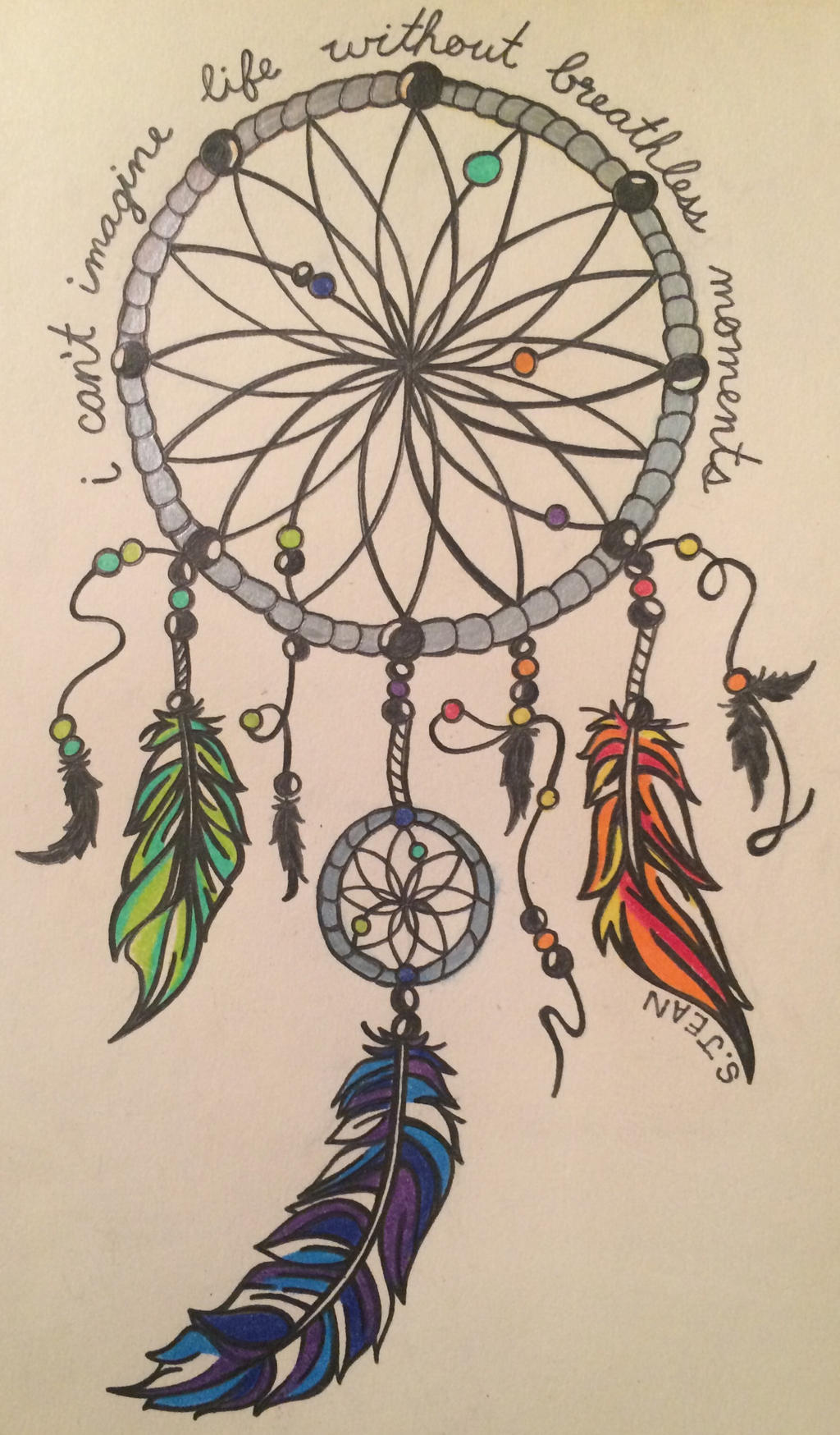 colorful dreamcatcher by savvyjayell on deviantart. Black Bedroom Furniture Sets. Home Design Ideas