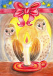 Barn Owls in Candlelight