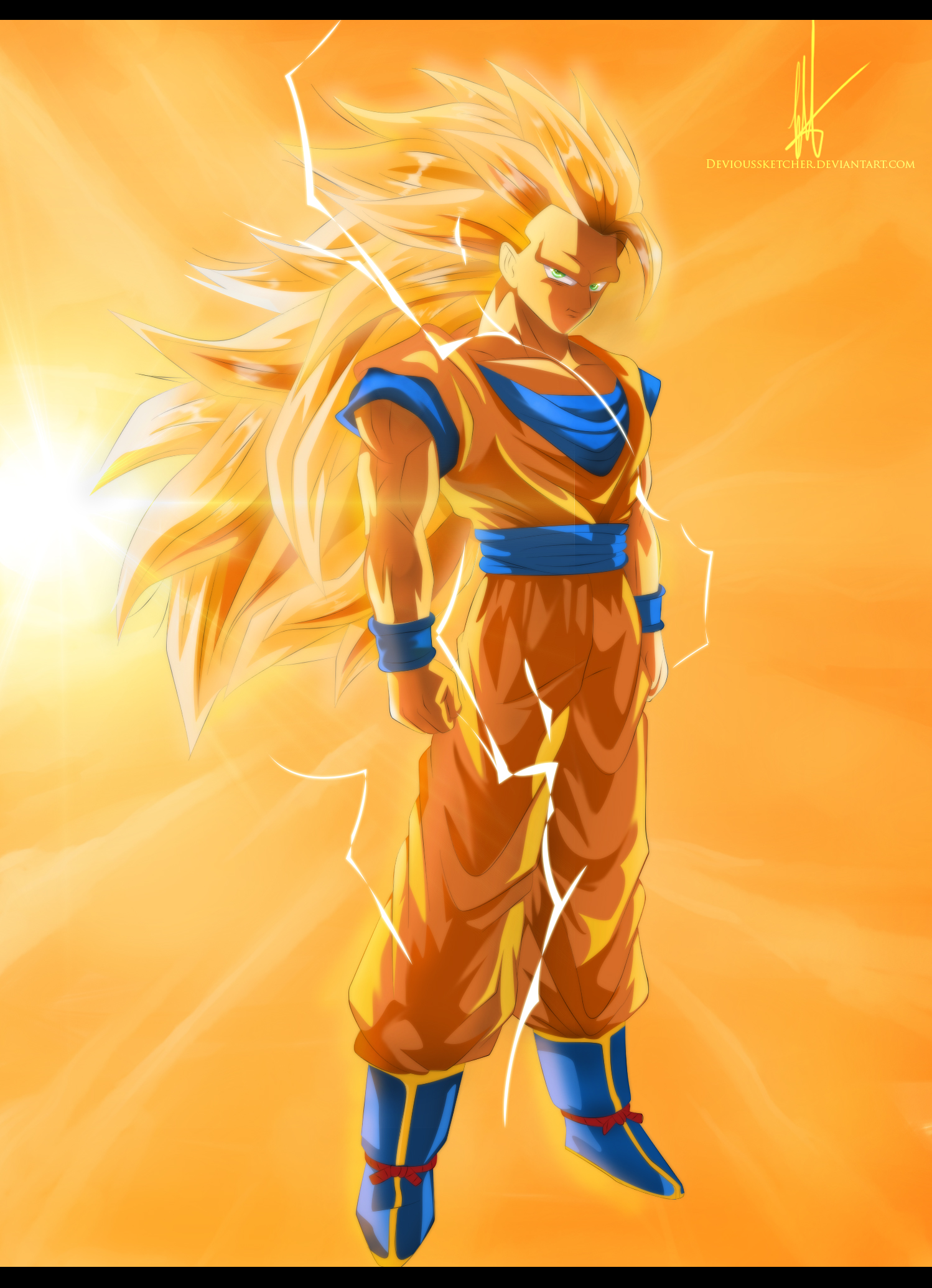 Super Saiyan 3 Goku By DeviousSketcher