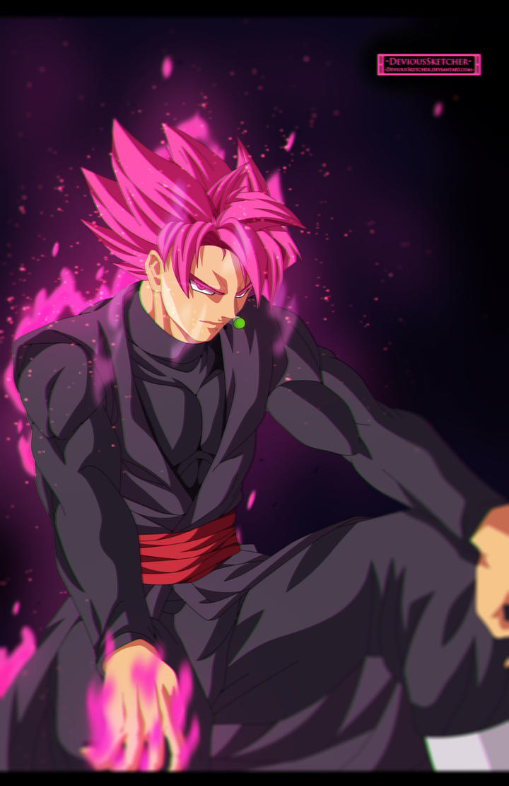 dragon ball super - goku black super saiyan rose! by