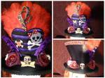 Skulls and Roses Mini Hat Fascinator