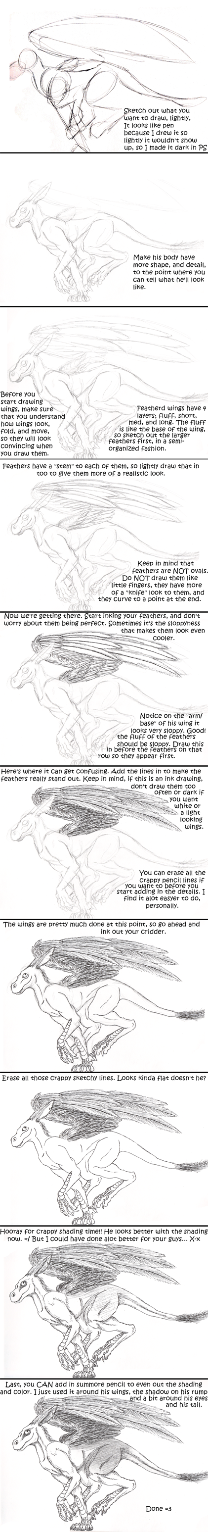 Ink Wing And Shading Tutorial By Kiwi Fox3 On Deviantart