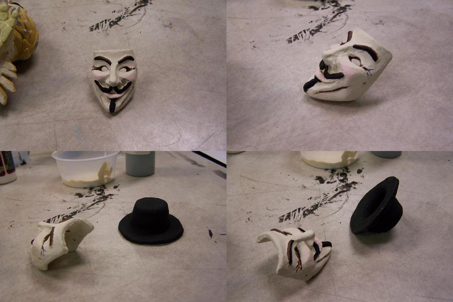 V For Vendetta Mask Drawing V for Vendetta Mask N Hat by