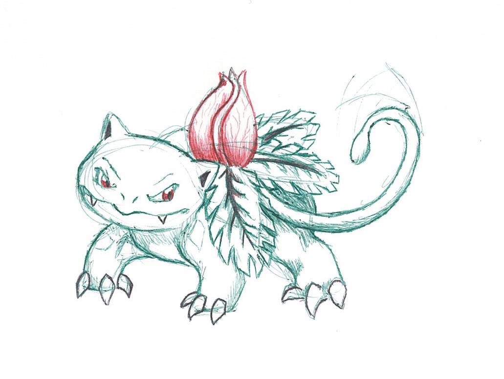 Ivysaur Used Vine Whip by Kiwi-Fox3