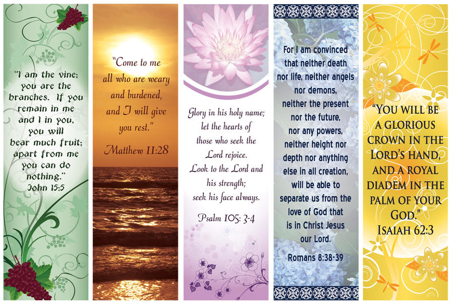 Custom Card Template funeral prayer cards templates : Bible Verse bookmarks by Dawnchaser on DeviantArt
