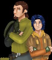 Kanan and Ezra by Dawnchaser