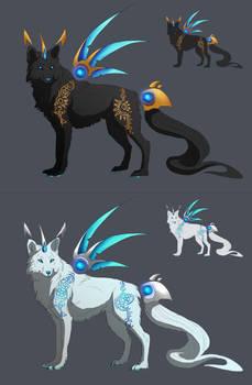 Sun and Moon Warrior Wolf Adoptions