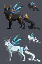 Sun and Moon Warrior Wolf Adoptions