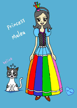 Princess Malea and Belive cat