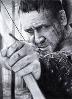 Russel Crowe Portrait by bibivz