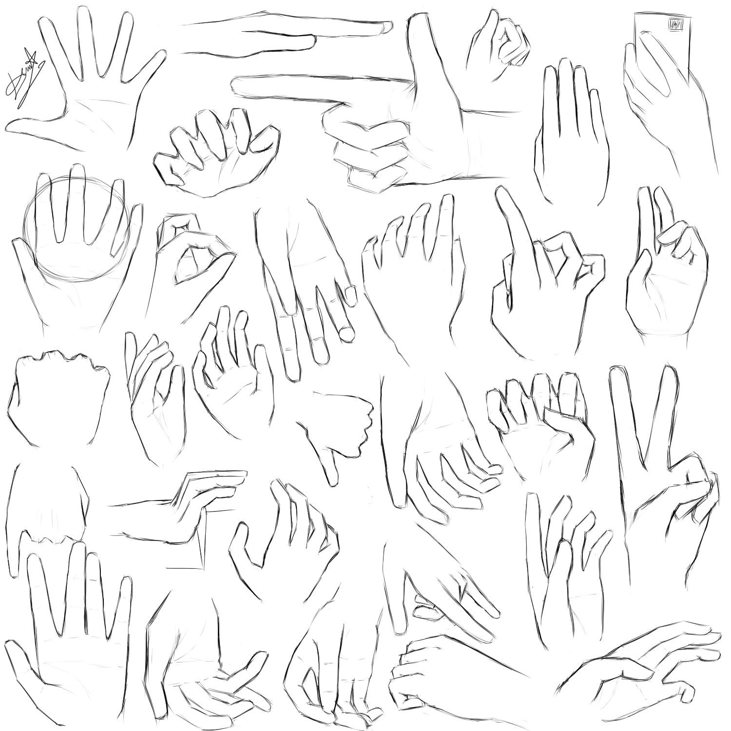 Left Hands Drawing Left Hand Holding Something