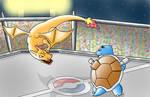 Charizard VS Blastoise