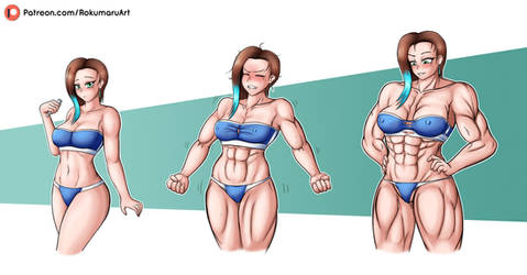 Natalie muscle growth (commission)