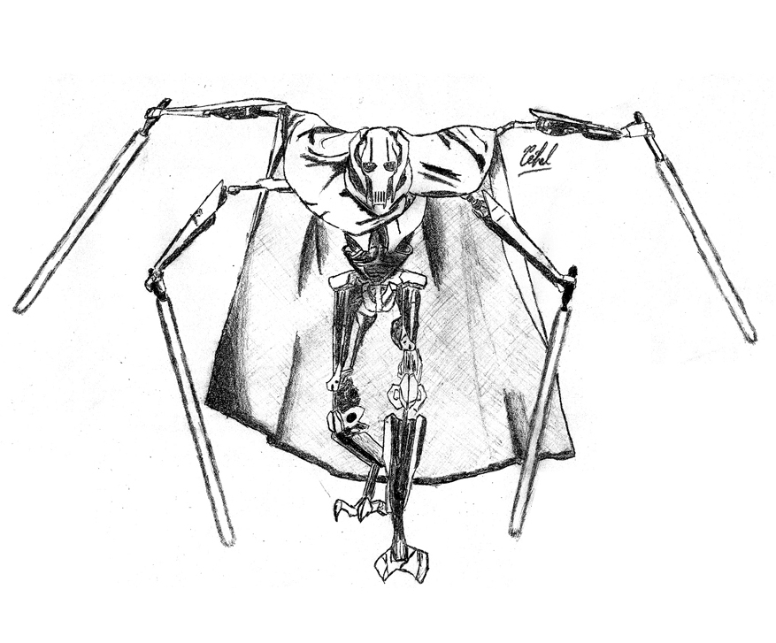 General Grievous Printable Coloring Sheet Coloring Pages
